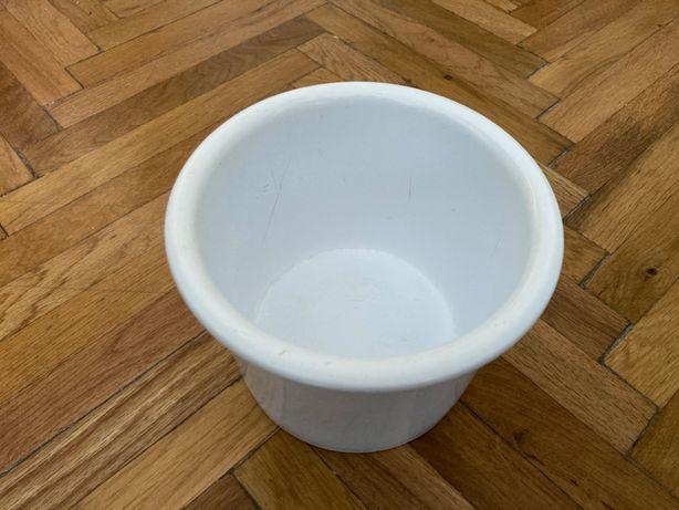 Ghiveci plante din ceramică, alb, 13 cm