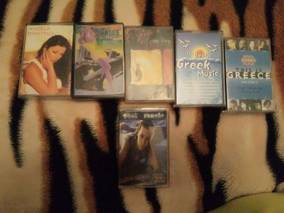Аудио касети ,5 гръцки и 1 фолк ,1 руска ,оперета