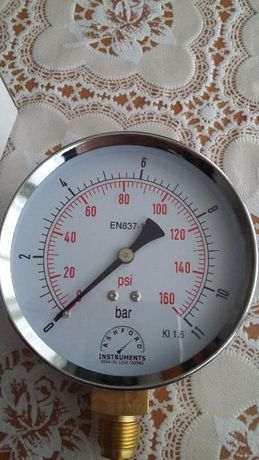 Индикатор за налягане на въздуха - 160 мм Bourdon Tube Design