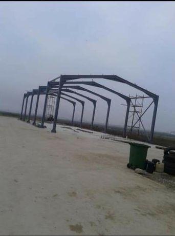 Vând hala metalică 14 m lățime 20 de m lungime 4 m înălțime la streași