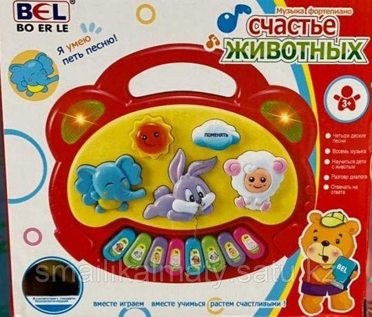 """Детская Развивающая Музыкальная  игрушка """"Пианино. Счастье животных"""""""