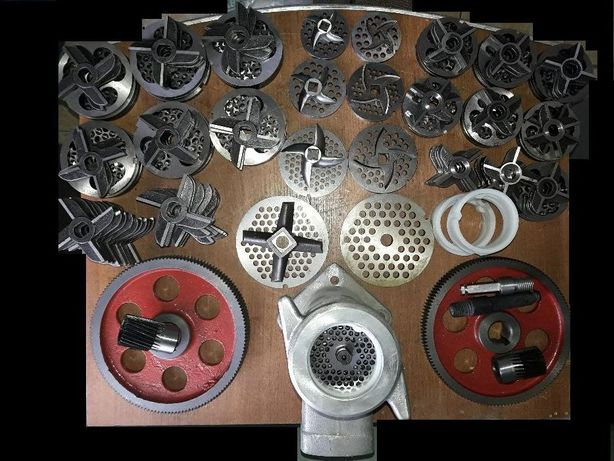Ножи и решетки запчасти к промыш-м мясорубкам ТМ32, МИМ 300 и МИМ 6т