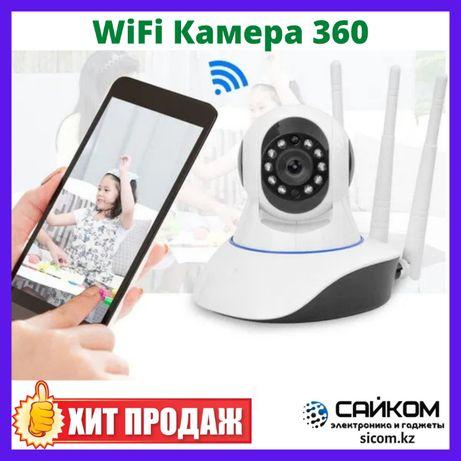 WiFi Камера Поворотная HD ВайФай Видеоняня 2MP PTZ - Ночной режим auto