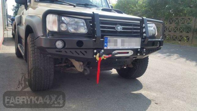 Bara fata OFF ROAD metalica cu bullbar si S. troliu - Hyundai Galloper