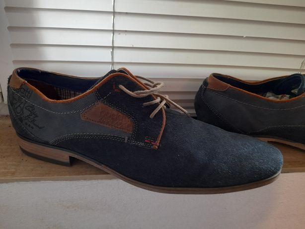 Pantofi 46 bugatti piele bleu