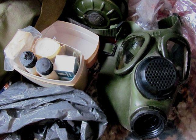 SET Masca gaze, filtru, geanta militara si trusa sanitara antichimica