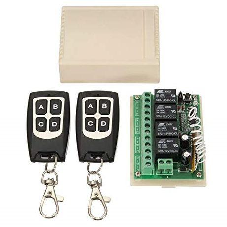 Modul remote control cu 4 relee 12V 315 MHz cu 2 telecomenzi