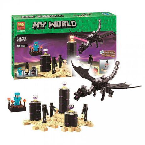 Лего Майнкрафт Дракон Края BELA 10178, аналог LEGO Minecraft  21117