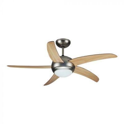 Вентилатор за таван 60W с лампа 2xE27 5перки 132cm