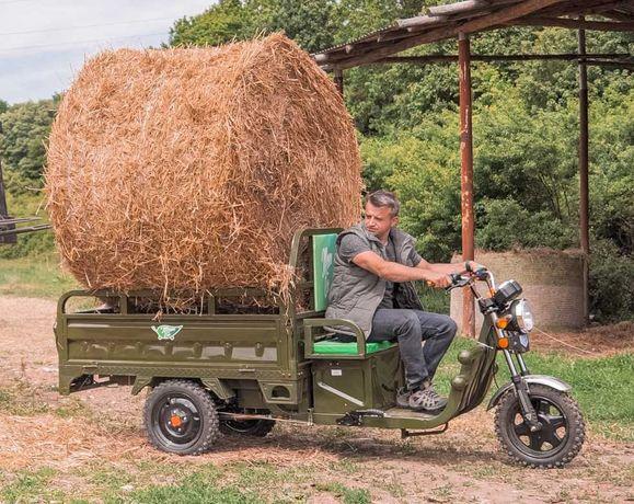 PROMOTIE - Triciclu electric cu bena basculabila marca MoveEco