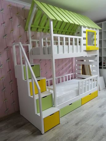 Двухъярусные кровати, кровати домики, кровати трансформеры.