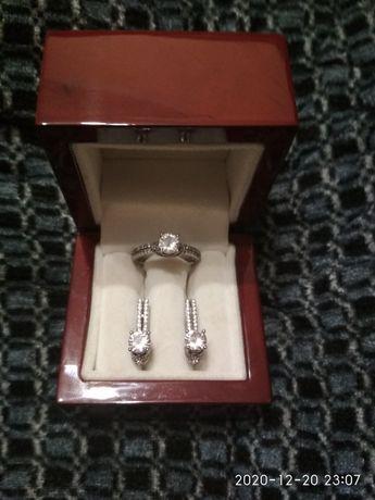 набор серебро цирконы