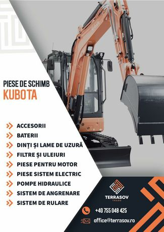 Piese utilaje miniexcavator Kubota Takeuchi Cat Komatsu JCB Volvo