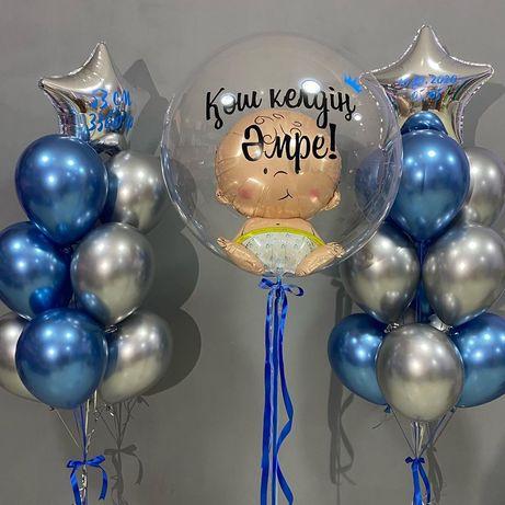 Гелиевые шары для выписки от 4800 тг. Выписка из роддома. Шарики. Шары