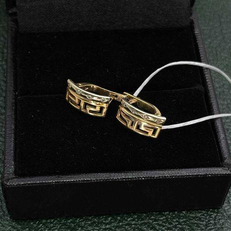 Золотые серьги AU 585