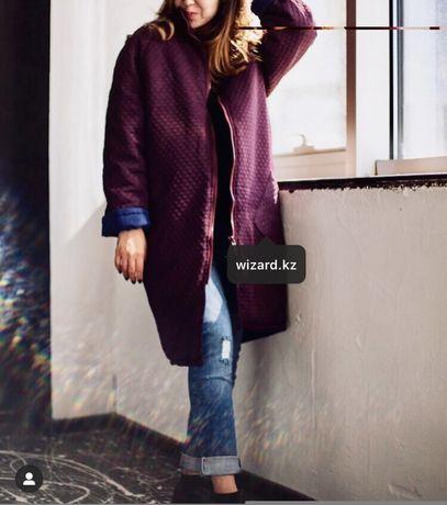 Теплая куртка пальто осень зима от дорогого казахстанского бренда