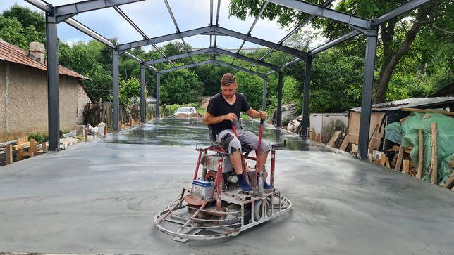 Turnare beton, ciment elicopterizat finisat sclivisit cu elicopter