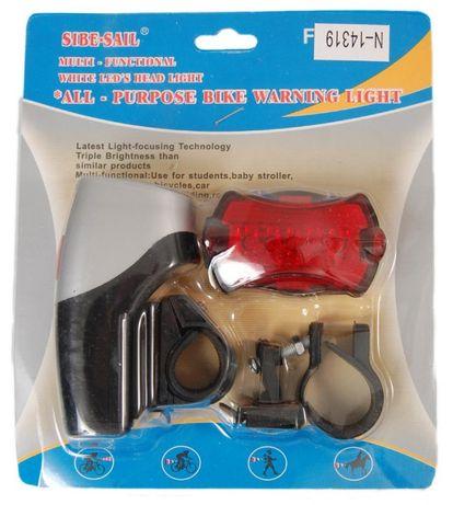 Комплект за колело - фенер с 6 диода и стоп с 5 диода