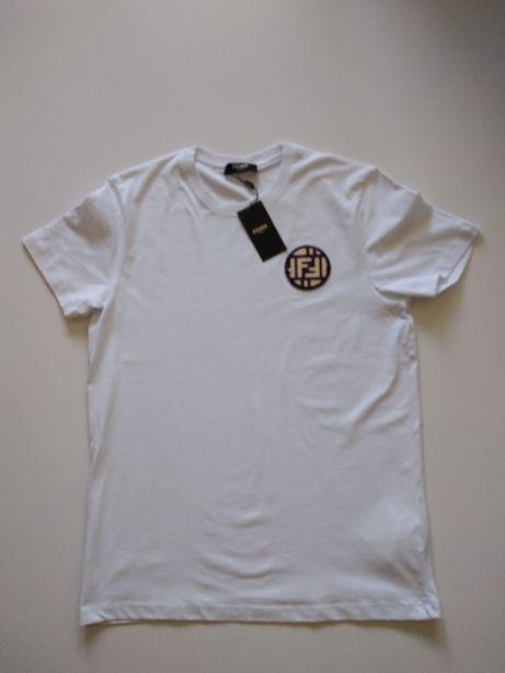Tricou Fendi White Patch Tee Shirt masura S M si XL
