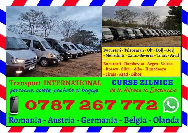 Curse ZILNICE transport de persoane si colete Germania Austria Romania