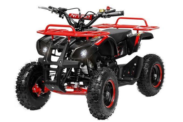 Mini ATV electric NITRO Torino Deluxe Quad 800W 36V #Rosu