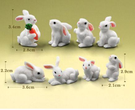 Figurine tort iepurasi de Paste/fetite cochete/ciupercute miniaturi