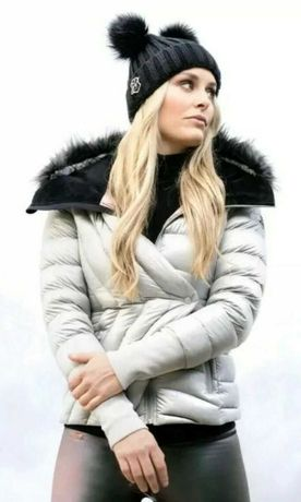 Geaca Under Armour Louise Lindsey Vonn Storm Hood Gray Snow Puffer XS