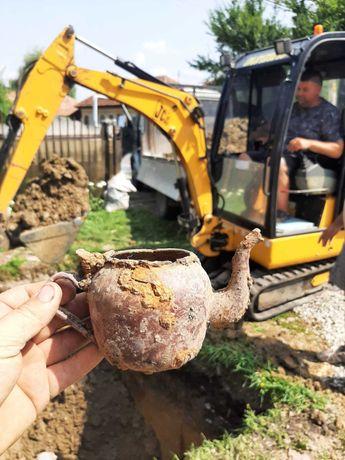 Excavator. Executam lucrari de excavatie cu miniexcavatoare de 1,7 t.