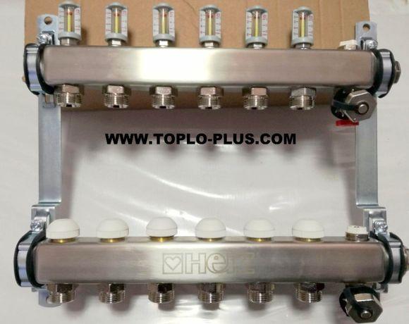 Клектори за подово отопление ХЕРЦ к-т 6 отвора