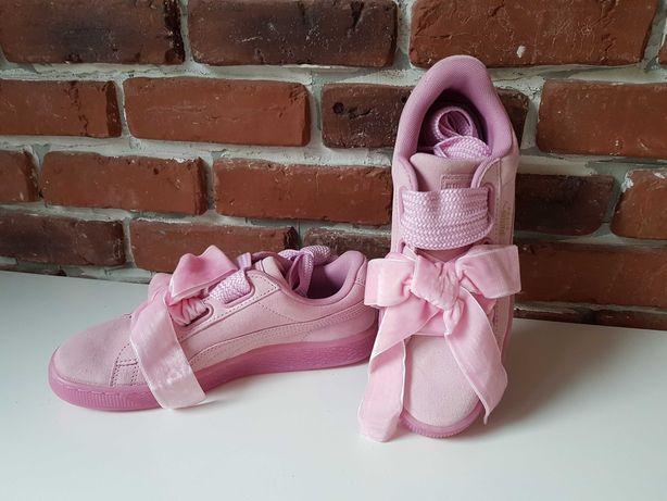 Adidas Puma _ Suede Heart Reset_Rose_Piele Naturala