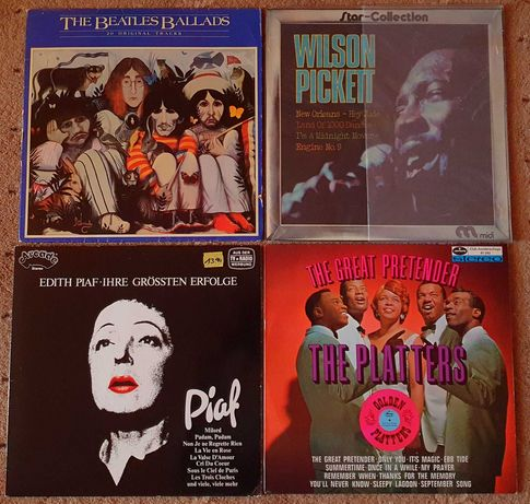 Vinil disc pickup Beatles Pickett Abba Madonna Lauper Piaf Platters