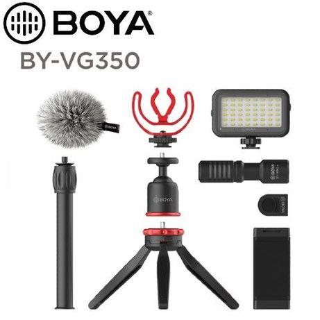 BOYA BY-VG350 Vlogger Kit cu microfon BY-MM1+, Lampa Led, Mini trepied