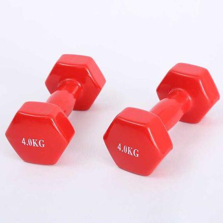 Гири за Фитнес 2бр х 4 кг , Цветни Гири за Тренировка