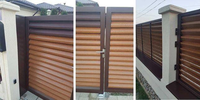 Construim garduri si porti stil jaluzea, fier forjat, sipca si BCA
