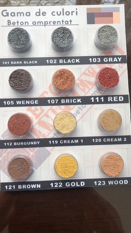 Colorant/culoare beton amprentat/pigment beton/desmoldeantes/lac beton
