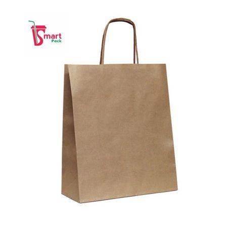 Крафт пакет, бумажные пакеты 220х250х120мм