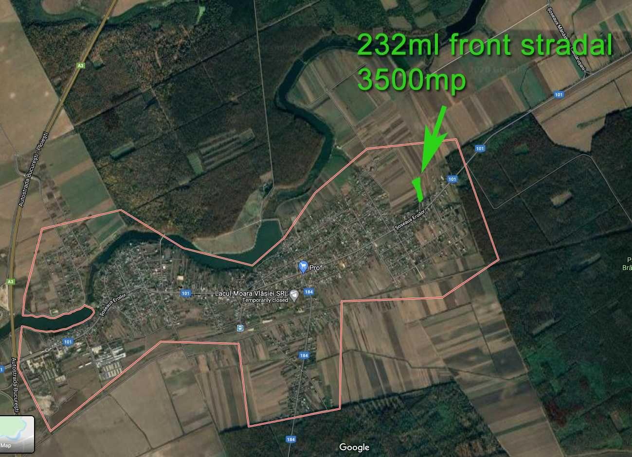 Vand teren intravilan Moara Vlasiei judetul Ilfov