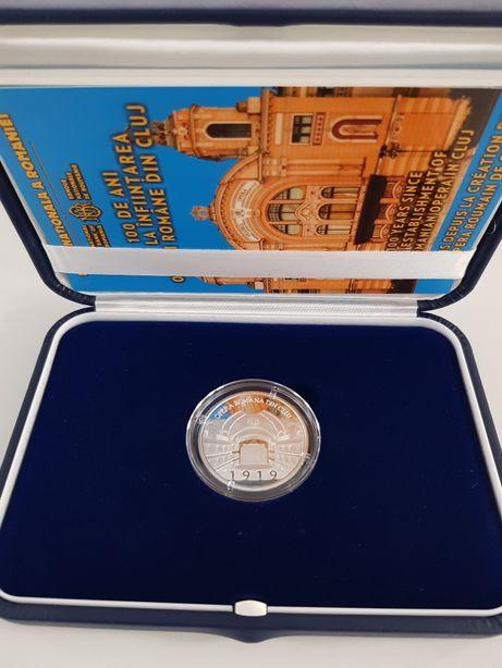 Moneda 100 de ani de la înființarea Operei Române din Cluj