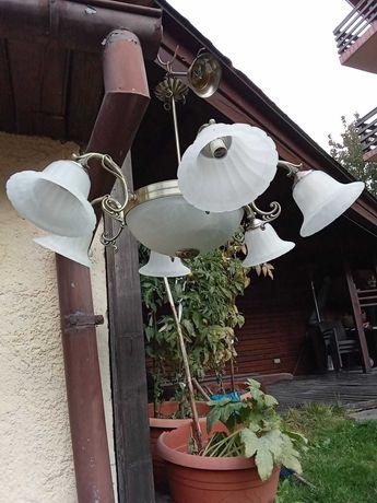 Vând lampa sufragerie cu 6 brațe, abajur marmura, nouă