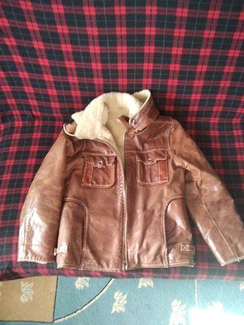 Кожаная куртка детская