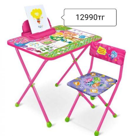 Парта стул комплект детской складной мебели Ника детский стол стул