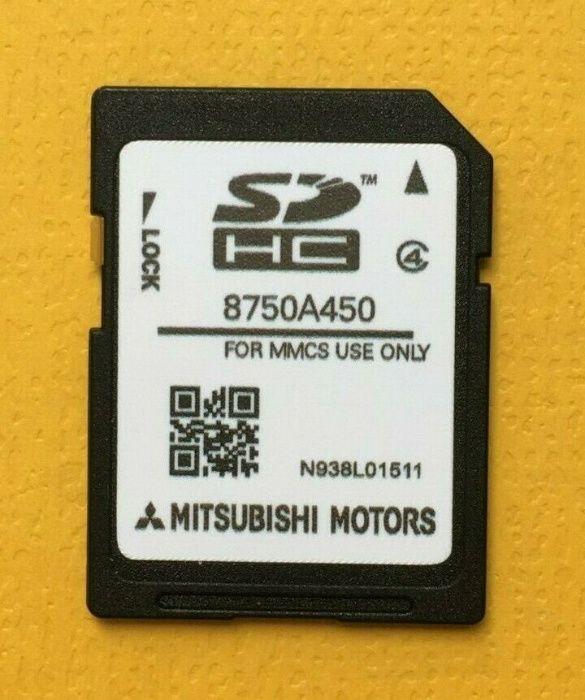 2020 Mitsubishi MMCS E-11 E-12 W-13 Sd Card ЕВРОПА 8750A450 Оригинална