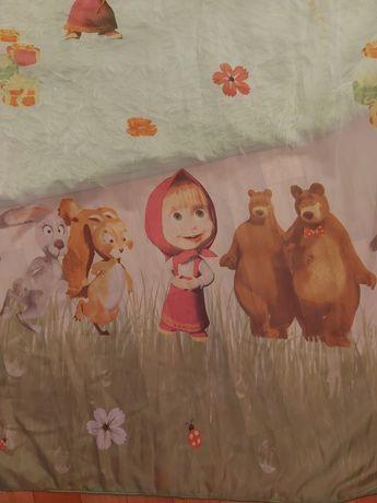 Тюль в детскую с Машей и Медведем