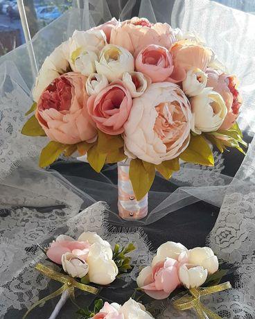 Свадебные букеты, бутоньерки и аксессуары Невесты в наличии и на заказ
