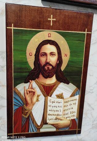 Икона на Исус Христос - рисувана