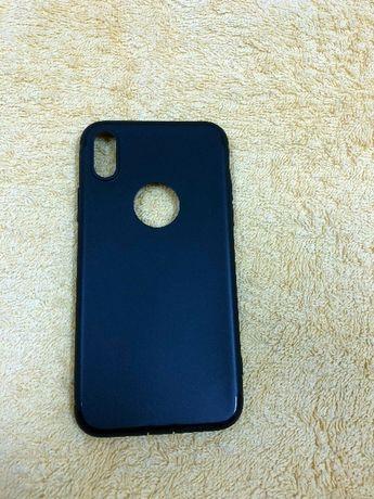 Husa iPhone X neagra - silicon - (BLACK) + folie fata spate iPhine X