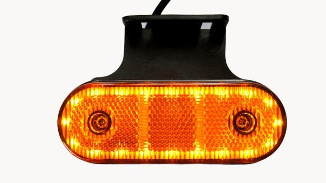 Lampa gabarit , contur iluminat, 23 LED-uri, cu suport,galbena