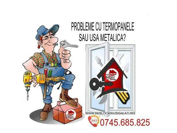 Reparatii termopane,deblocari usi,montaj uși, reparatii yale,rulouri