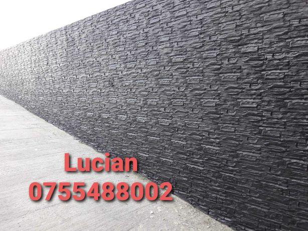 Beton Amprentat si Placari imitatie piatra cu Beton amprentat vertical