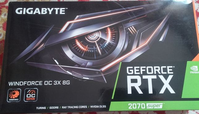 Placa video nvidia geforce rtx 2070 super gigabyte windforce oc 8g nou